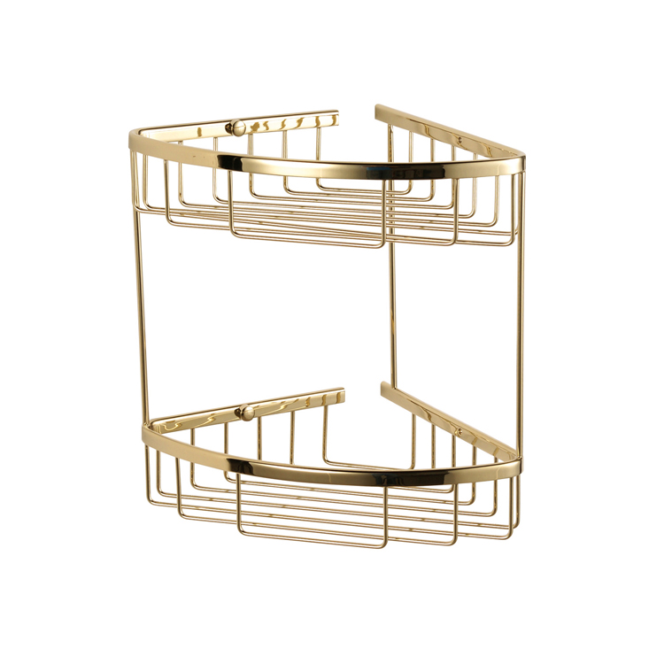 2102G Gold 2 tier corner basket