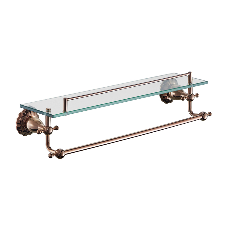 88304M Glass Bathroom Shelf With Rail