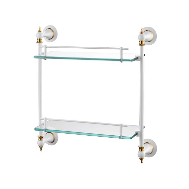 88512 Double Glass Shelf For Bathroom