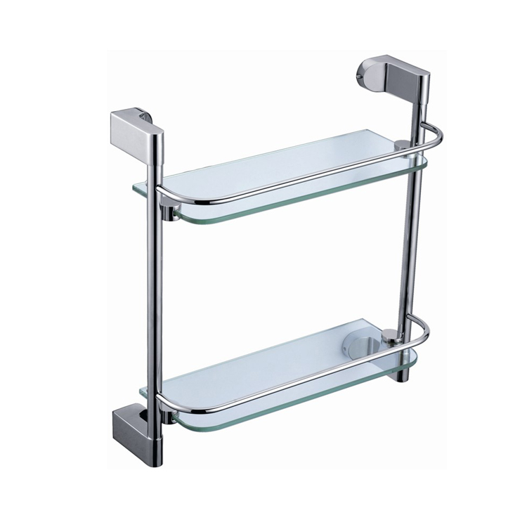 89212 2 Tier Glass Shower Shelf