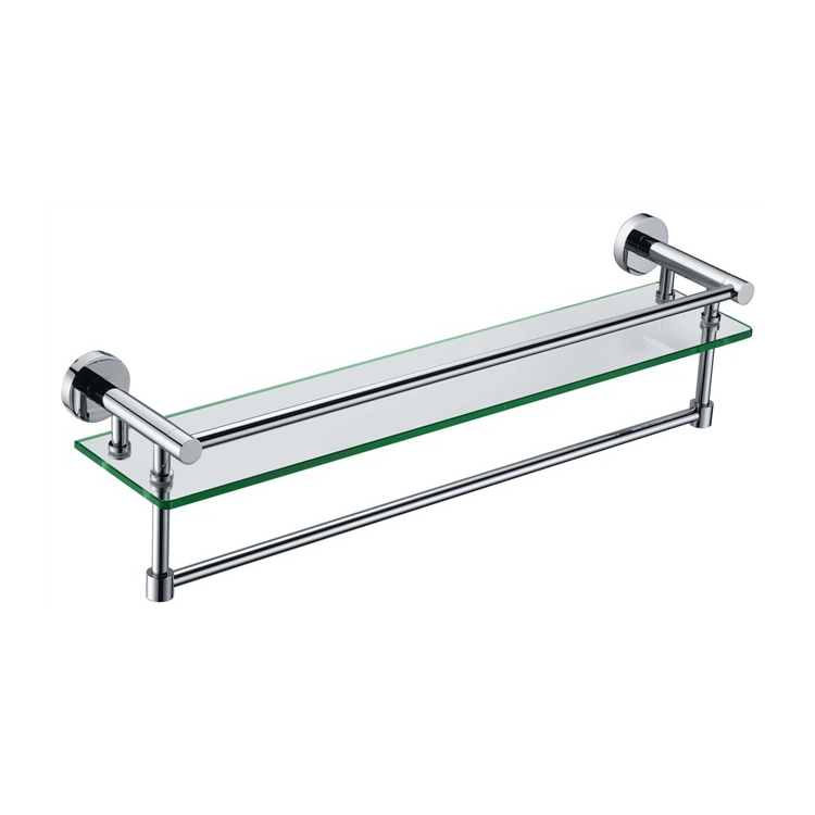 89304 Glass Shelf With Rail